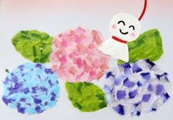 2歳からできる親子体験ワークショップⅣ 創作貼り絵 ~てるてる坊主と紫陽花を作ろう~ @ 調布カフェaona | 調布市 | 東京都 | 日本